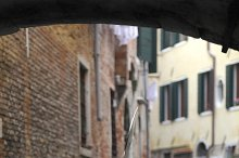 Bella Italia series. Venice - the Peairl of Italy. Gondola in Venice canal. Shallow DOF.