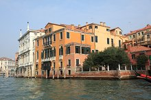 Bella Italia series. Venice - the Peairl of Italy. Old buildings in a Grand Canal.