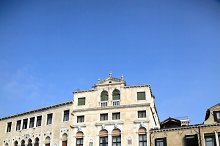 Bella Italia! series. Venice - the Pearl of Italy. Old buildings in a Grand Canal. Vertical composition.