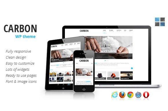 Carbon Responsive WordPress Theme