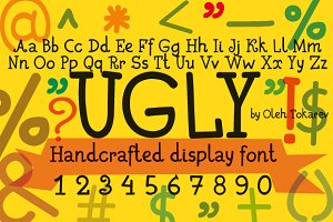 Ugly handcrafted display font