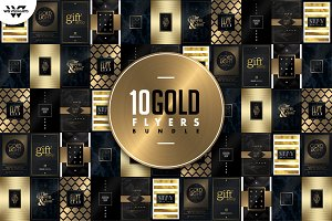 10 GOLD MINIMAL Flyer Bundle