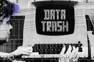 Data Trash Retro Futuristic Font