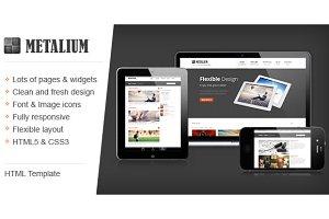 Metalium Responsive HTML template