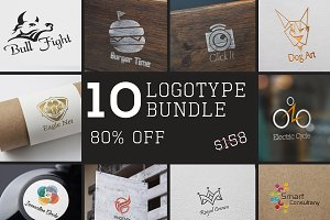 10 Logotype Bundle 55% OFF