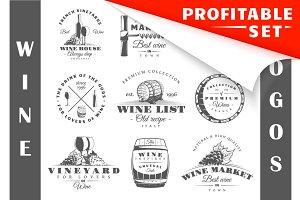 18 Wine logos templates