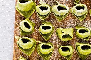 tortellini with spinach and ricotta
