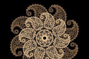 Mehndi lace paisley mandala