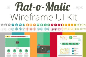 Flat-o-Matic Wireframe UI Kit