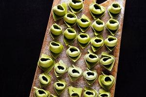 ravioli . green Italian tortellini