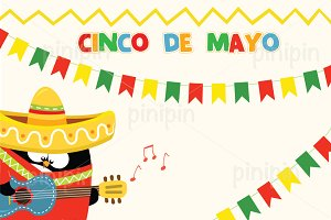 Penguin Celebrating Cinco De Mayo