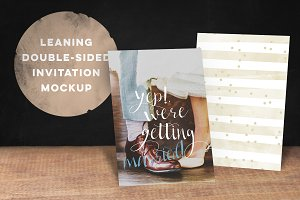 Double-sided Invitation Mockup
