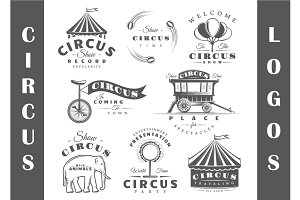 8 Circus Logos Templates Vol.2
