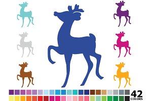 Rainbow Deer Silhouette