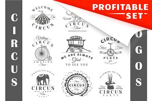 17 Circus Logos Templates