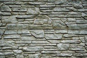 Stone brick wall detailed