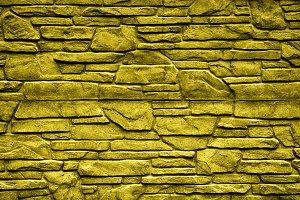 Gold stone brick wall detailed