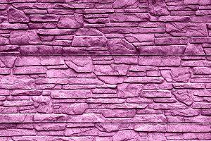 Pink stone brick wall texture