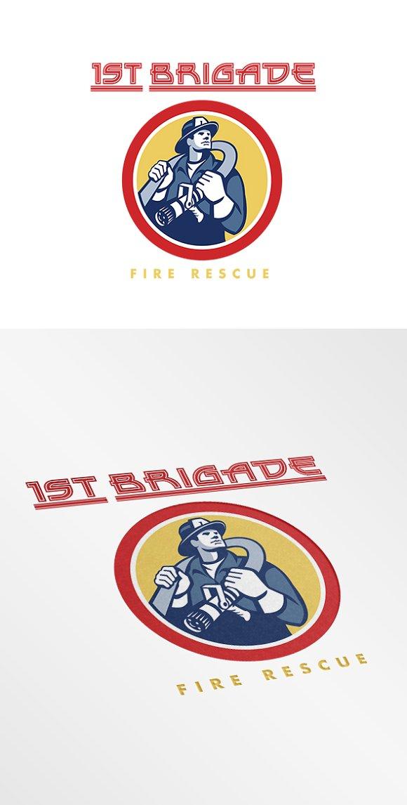 first brigade fire rescue logo logo templates creative market