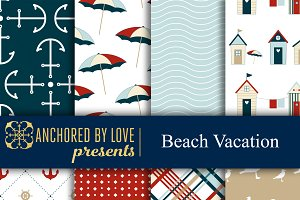Beach Vacation Digital Paper