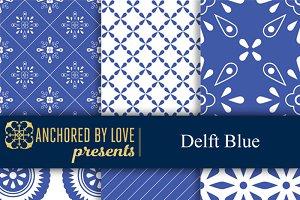 Delft Blue Digital Paper