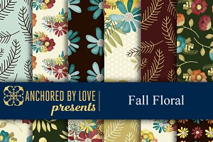 Fall Floral Digital Paper