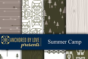Summer Camp Digital Paper