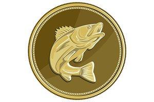 Barramundi Gold Coin Retro