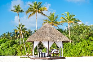 Tropical wedding ceremony location