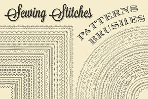 Sewing Stitches Patterns Brushes