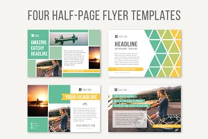 Four Half-Page Flyer Templates