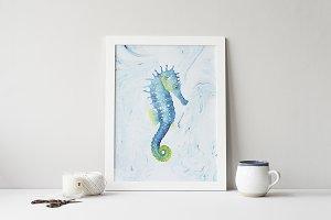 Seahorse Wall Art Print