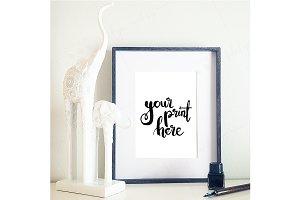 Styled frame mockup - calligraphy1