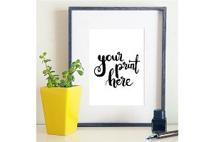 Styled frame mockup - calligraphy 2