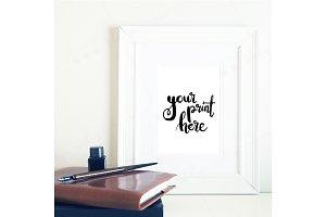 Styled  frame mockup - calligraphy3