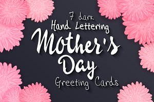 Set of mother's day cards