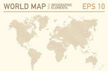 World map with icons