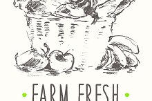 Farm fresh products poster