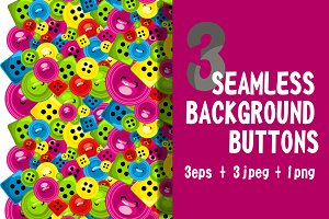 Seamless background - buttons sewing