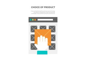 Choice of Product on Website Flat
