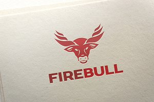 Fire Bull Logo Template