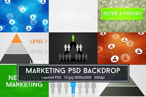 Network Marketing PSD Backdrop