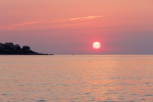 Sunrise sea view