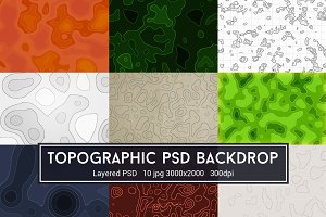 Topographic Maps PSD Backdrop