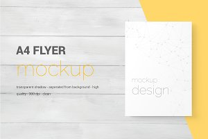 A4 And US Letter Flyer Mockups