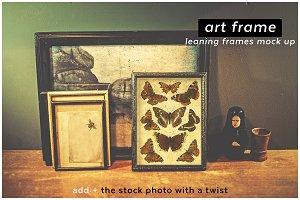 add + artframe leaning frames mockup