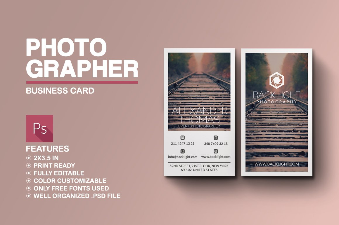 Square polaroid business card business card templates creative photographer business card magicingreecefo Image collections