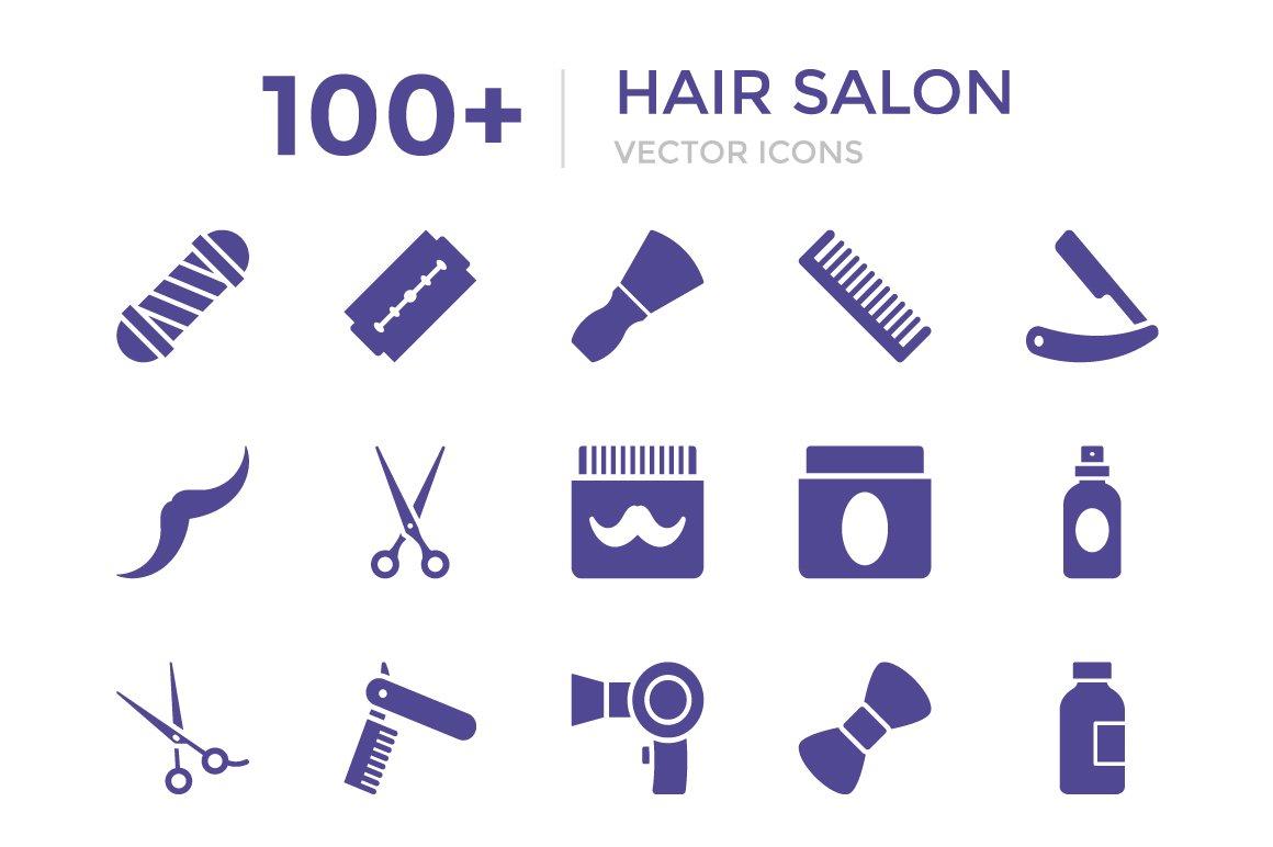100 Hair Salon Vector Icons Icons Creative Market