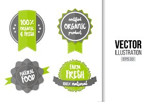 Organic fresh natural food logos