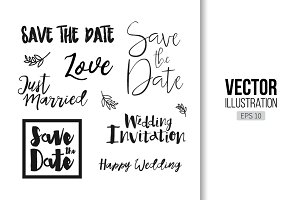 Save The Date lettering overlay